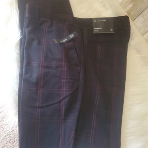 NWT INC Tapered Plaid Slacks